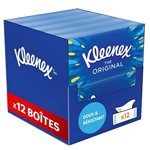 Lot de 12 boîtes de 72 Mouchoirs Kleenex Original