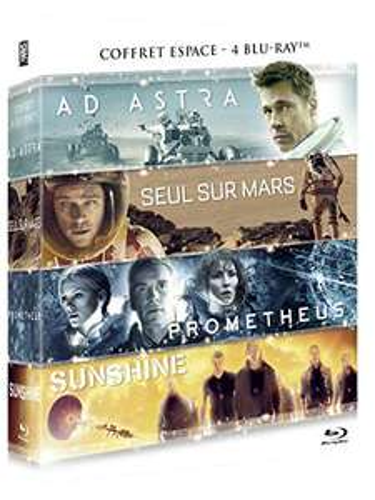 Coffret Blu-Ray 4 Films - Ad Astra + Seul sur Mars + Prometheus + Sunshine