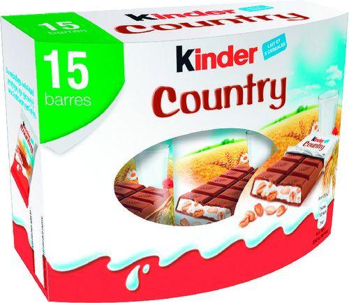 Paquet de 15 barres chocolatées Kinder Country
