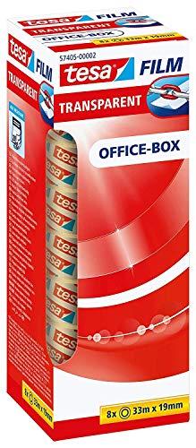 Pack de 8 rubans adhésifs TESA Office Box - 33m x 19mm