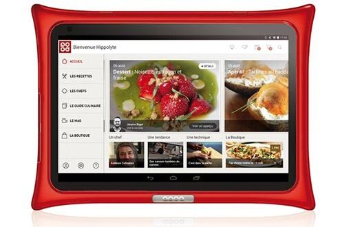"""Tablette culinaire 10"""" QOOQ V4 - 16 Go, Rouge (Retrait magasin uniquement)"""