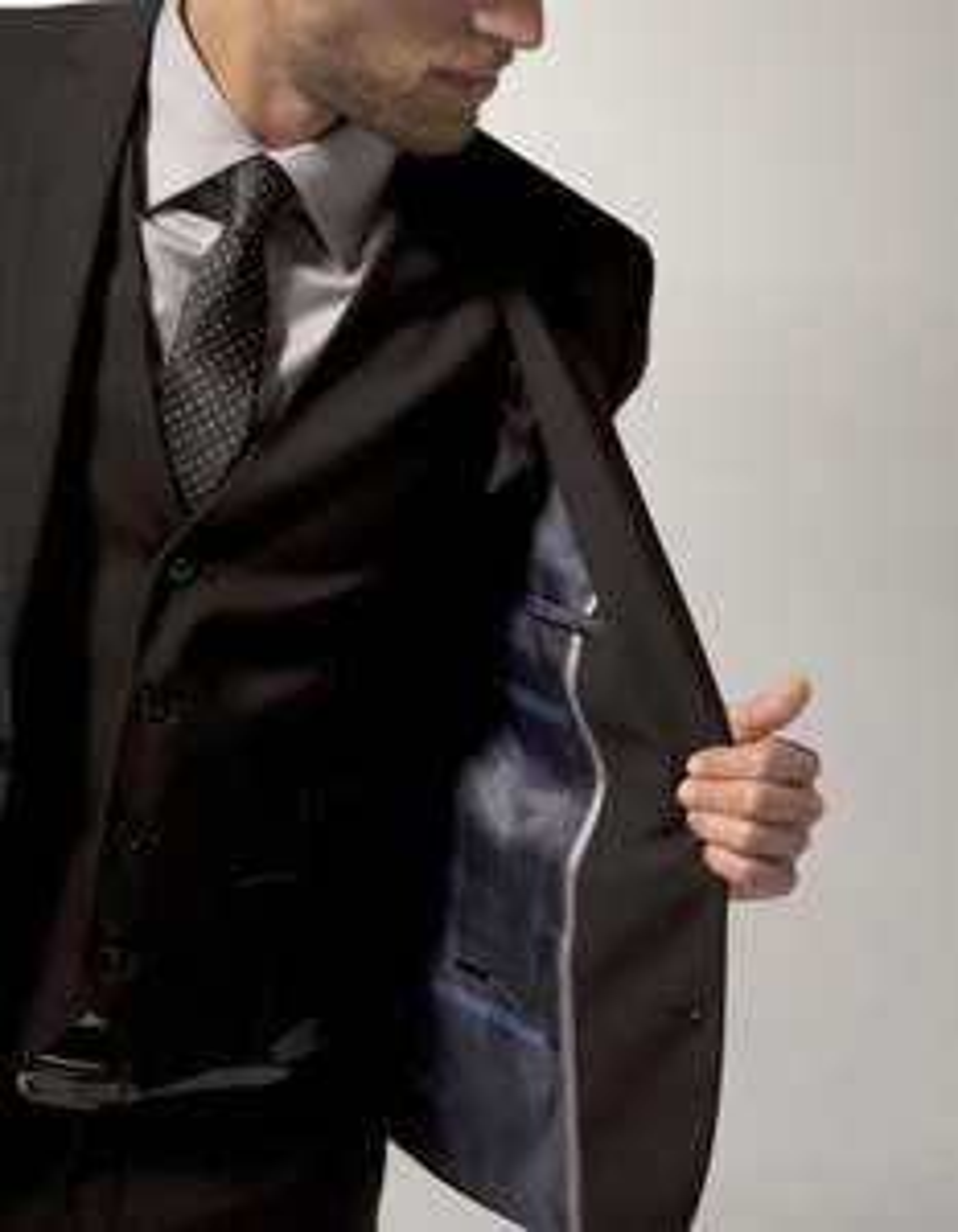 Veste coupe droite - Noir, 2 boutons