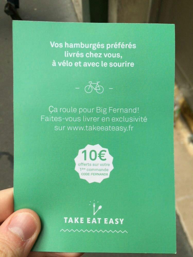 10€ de réduction immédiate dès 15€ d'achat sur votre première commande chez Big Fernand - 2.5€ de frais de livraison