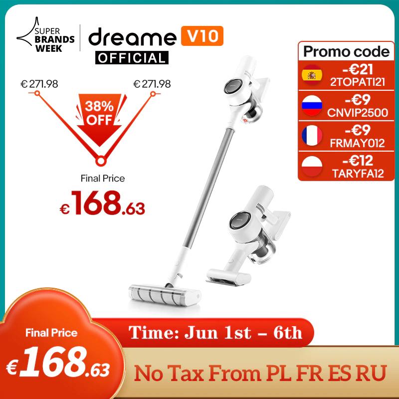 Aspirateur Balai Dreame V10 - Entrepôt France (147.46€ avec le code FRJUN30) + Coupon vendeur