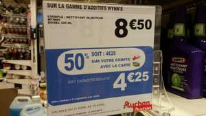 50% de réduction (cagnottés via la carte Waaoh) sur une selection d'additifs Wynn's