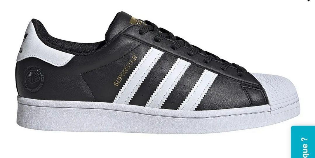 Chaussures Adidas Superstar Star en imitation cuir (vegan) - Noire (Vendeur tiers)
