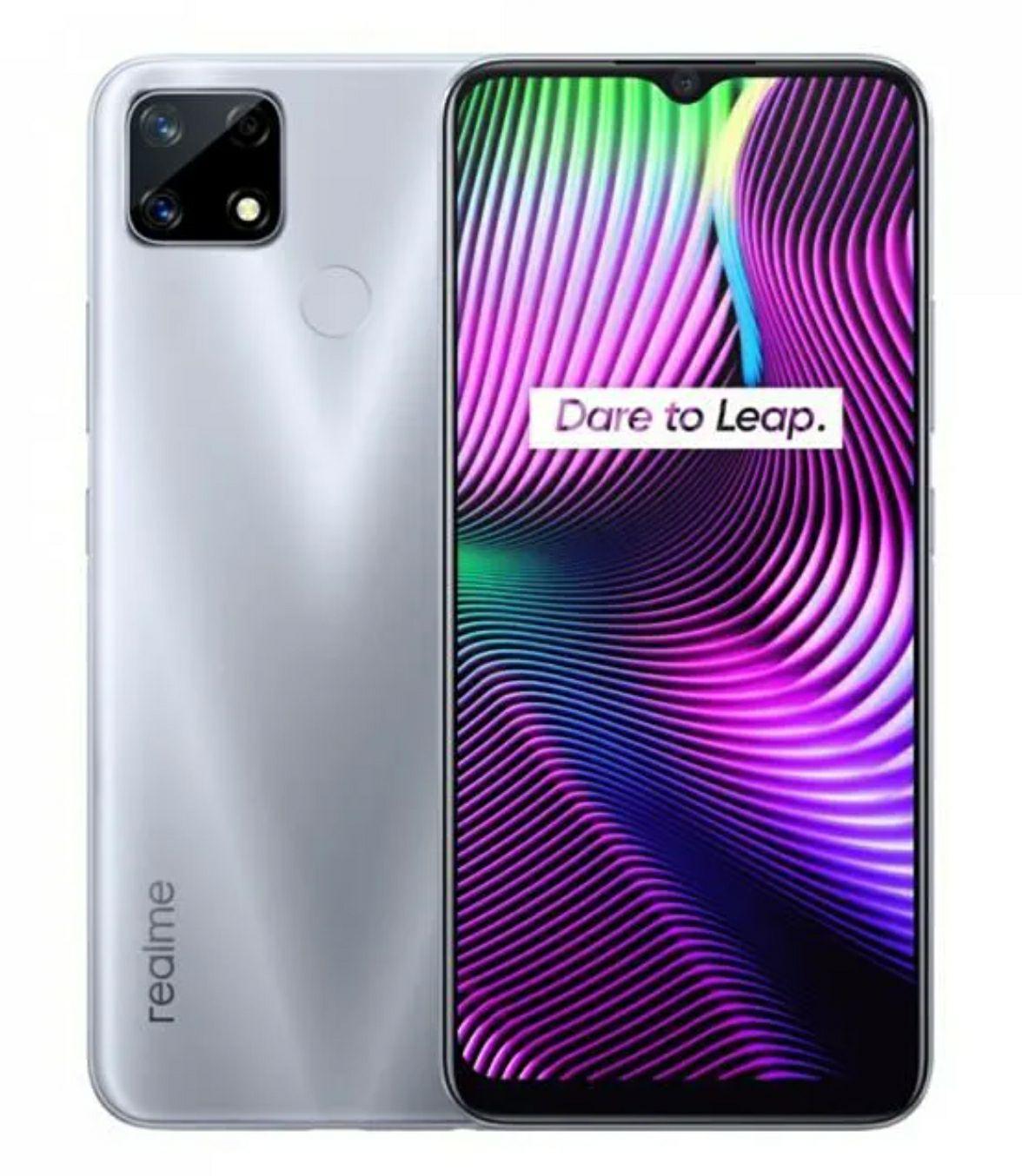 "Smartphone 6.5"" Realme 7i - HD+, Helio G85, RAM 4 Go, 64 Go, 6000 mAh, 48+8+2 MP, Gris (vendeur tiers)"