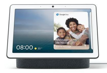 """Enceinte connectée avec écran 10"""" Google Nest Hub Max - Charbon"""