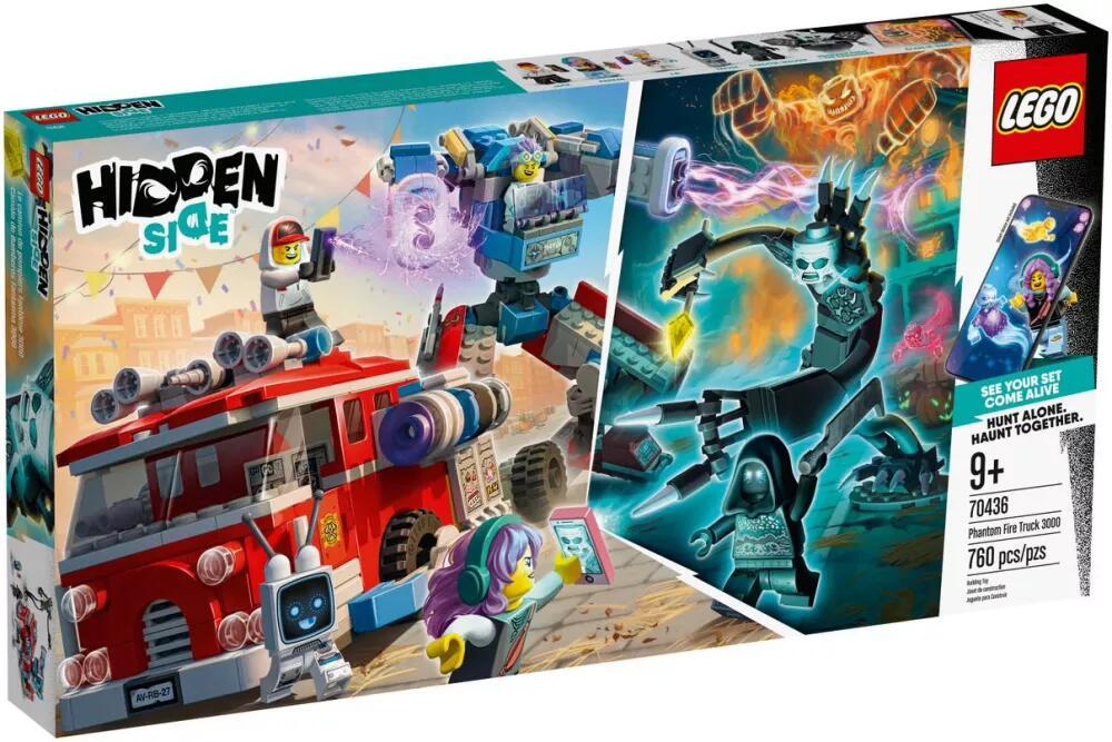 Jeu de construction Lego Hidden Side (70436) - Le camion de pompiers Phantom 3000 (via retrait dans une sélection de magasins)