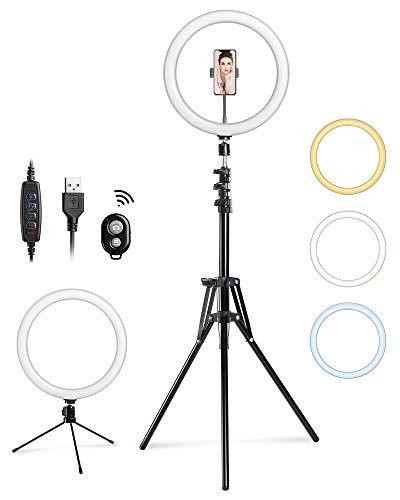 Anneau LED à selfie bluetooth Entil - 30 cm, trépied,10 niveaux de luminosité (Via Coupon + Code) (Vendeur tiers)