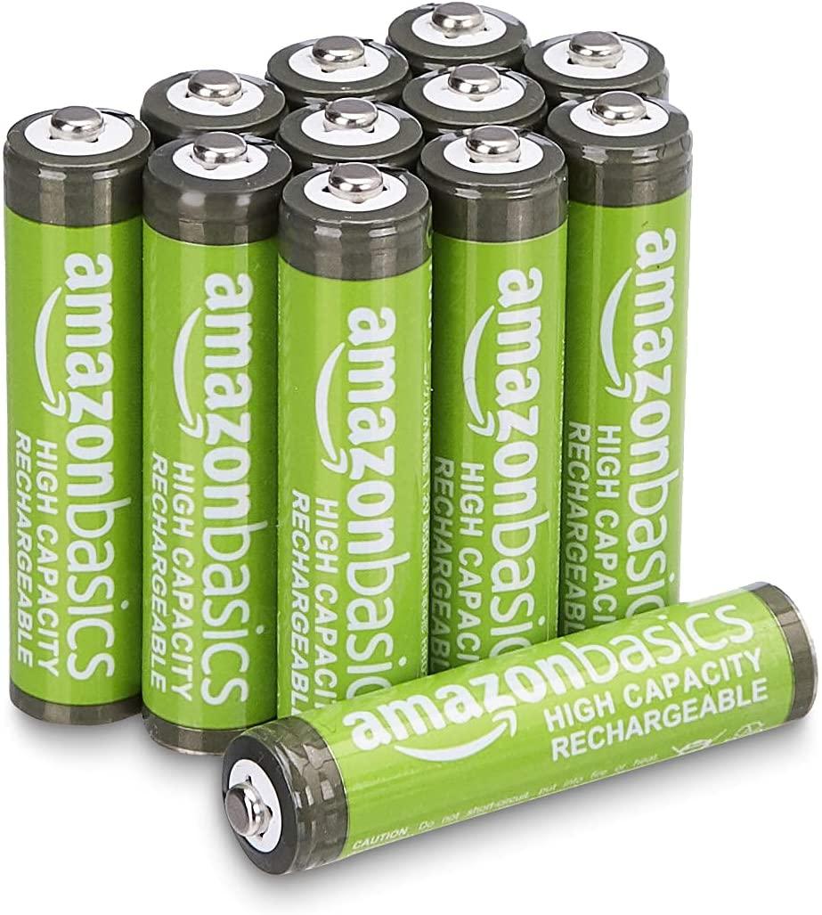 Lot de 24 Piles rechargeables Amazon Basics - AAA, 850 mAh (Pré-chargées)