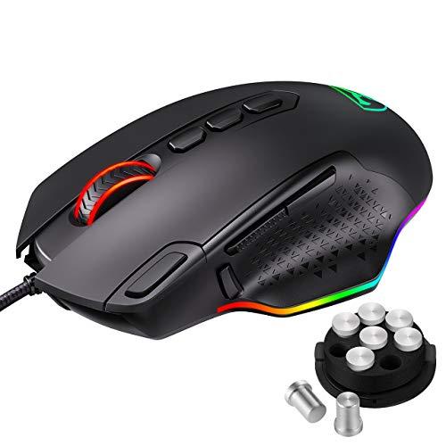Souris filaire gaming Pictek PC257 - Rétro-éclairage RGB personnalisable, 12000 DPI, 10 boutons programmables, ARM (Vendeur tiers)