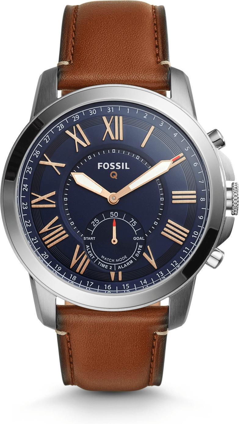 Montre connectée hybride Fossil Q Grant (FTW1122) - bracelet en cuir marron