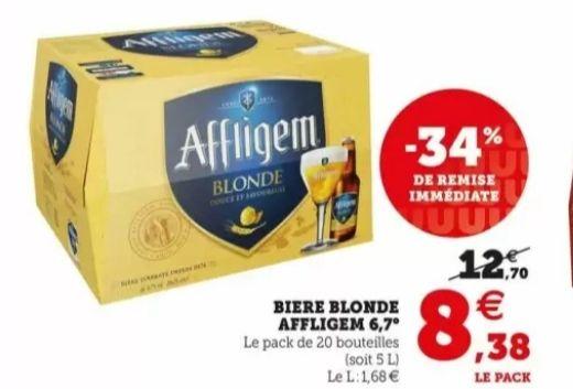 Pack de 20 bouteilles de bière blonde Affligem - 20x25cl