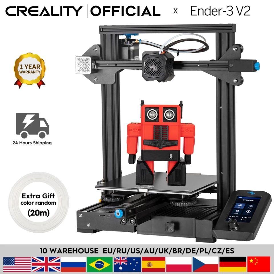 Imprimante 3D Creality 3D Ender-3 V2 (Entrepôt France)
