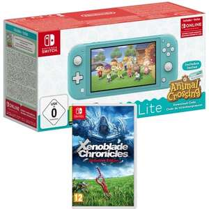 Pack Console Nintendo Switch Lite (turquoise) + Jeu Animal Crossing : New Horizons + Jeu Xenoblade Chronicles : Definitive Edition