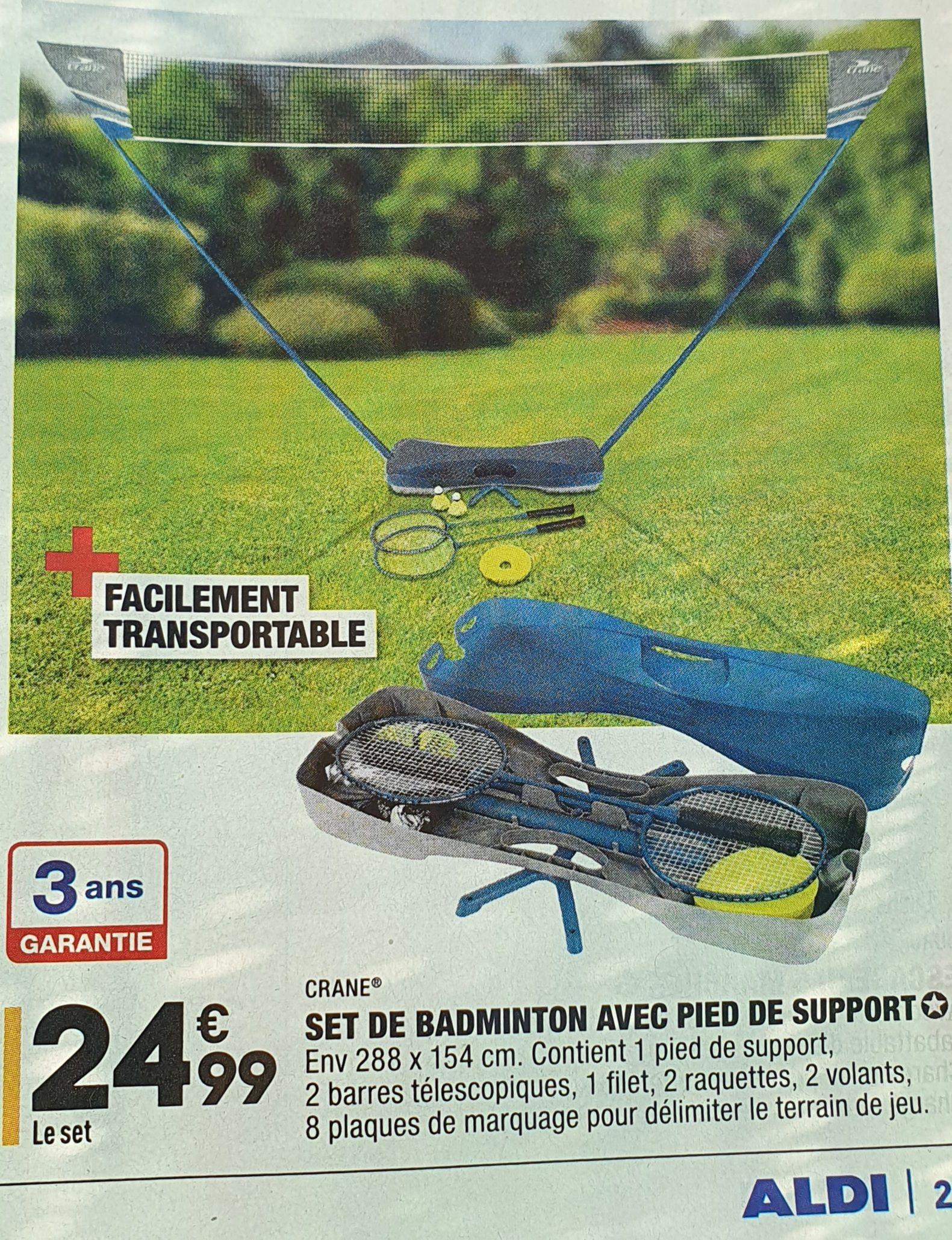 Set de badminton avec pied de support