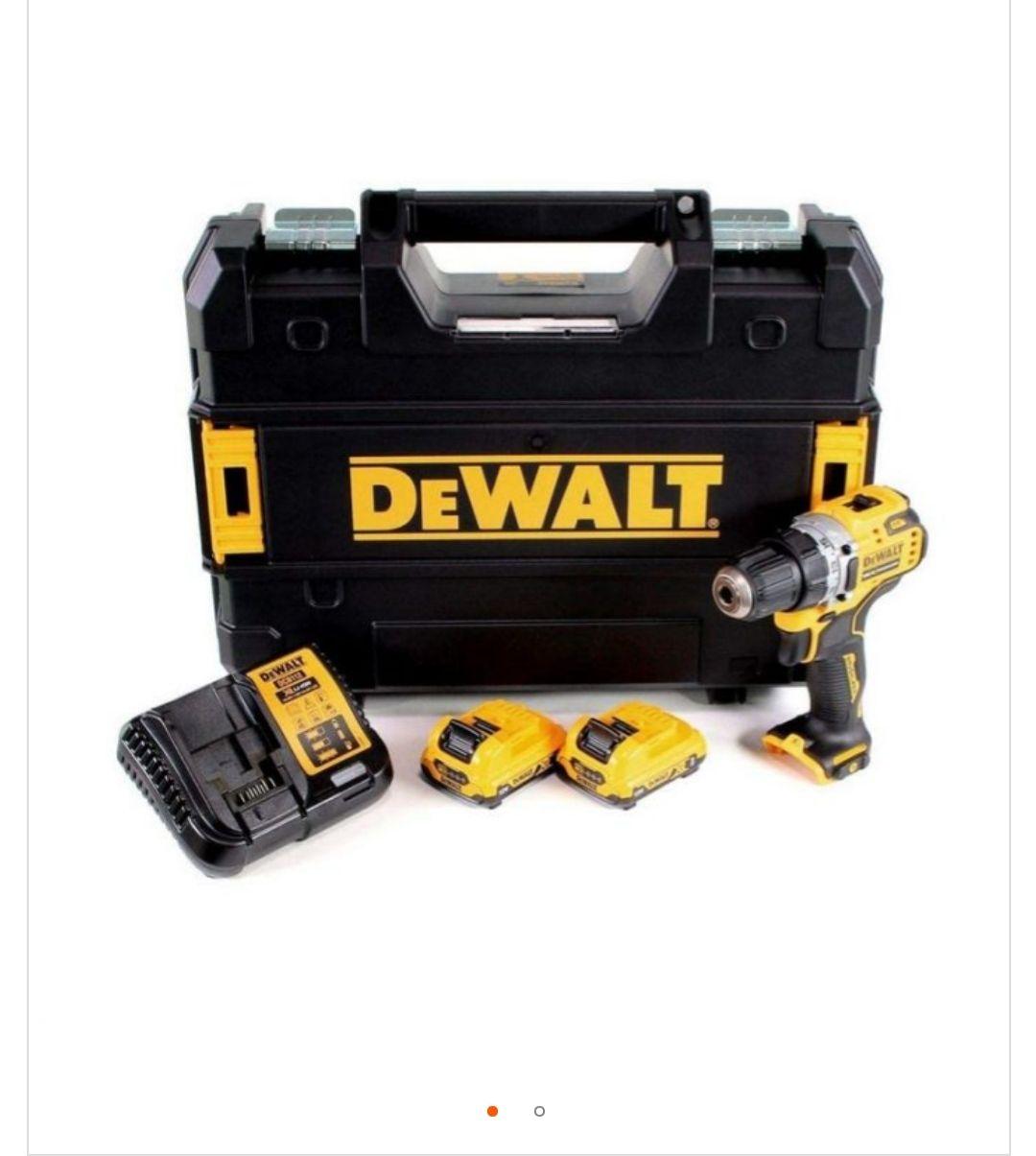 Perçeuse-visseuse Dewalt XR Brushless 12V + 2 batteries 2Ah Li-ion + chargeur + coffret TSTAK - DCD701D2