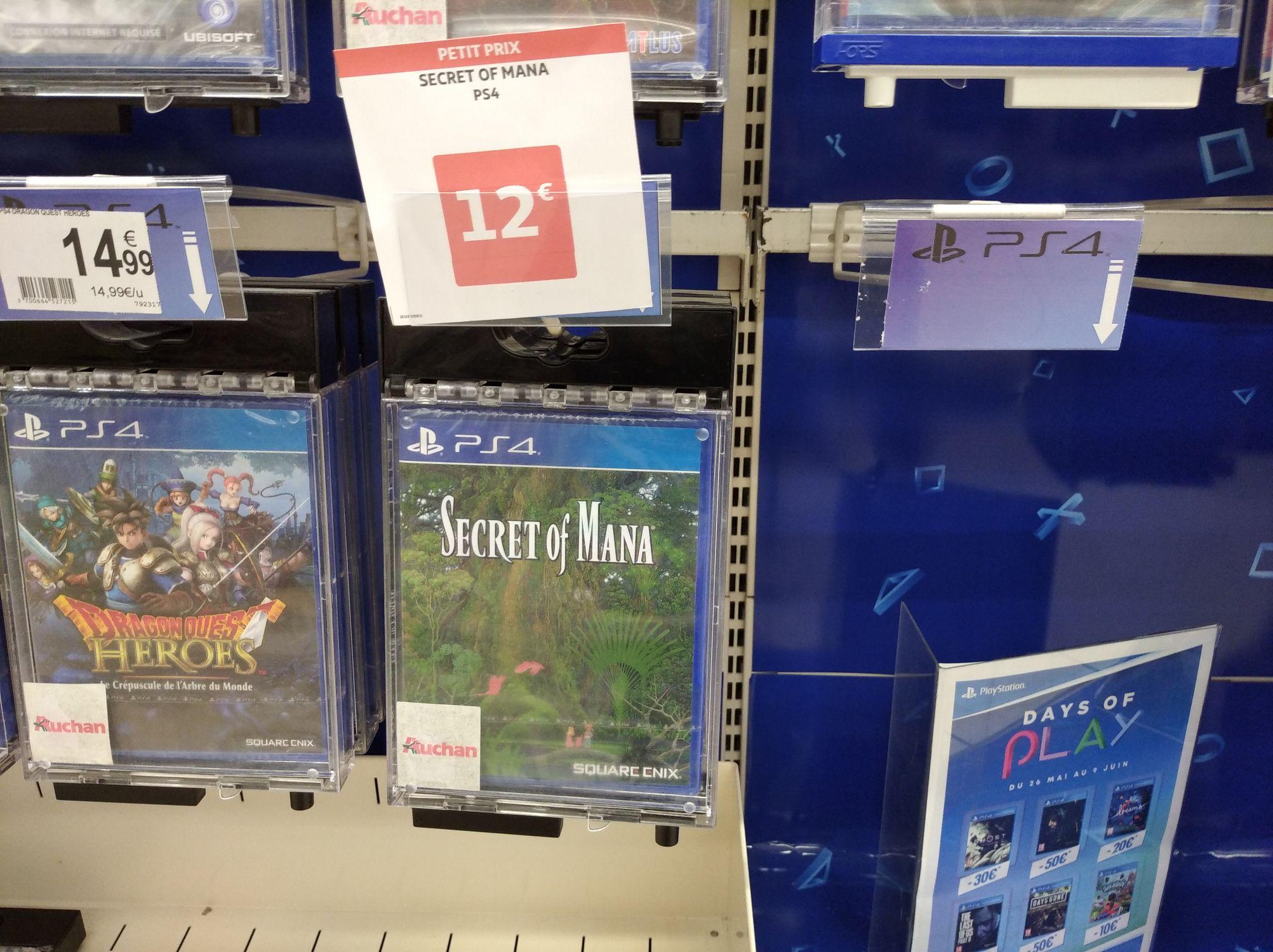 Sélection de jeux sur PS4 à 10-12 € (Montauban 82)