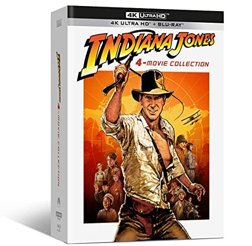 Coffret Digipack Indiana Jones 4 Films + Poster mappemonde (Combo 4 UHD + 5 Blu-ray)