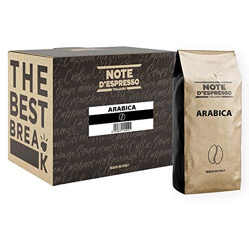 Lot de 2 sachets de café en grains Note d'Espresso Arabica - 2x1 kg