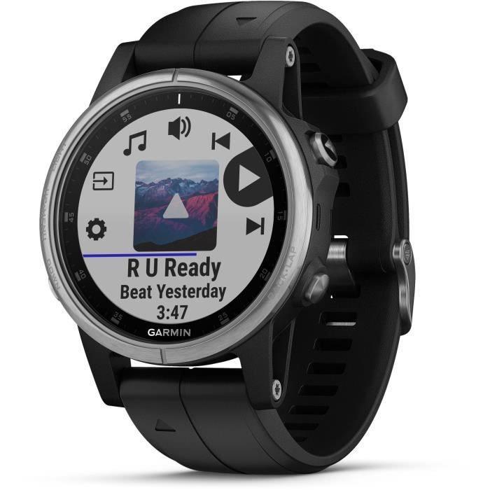 Montre de randonnée connectée GPS Garmin Fenix 5S Plus - Noire