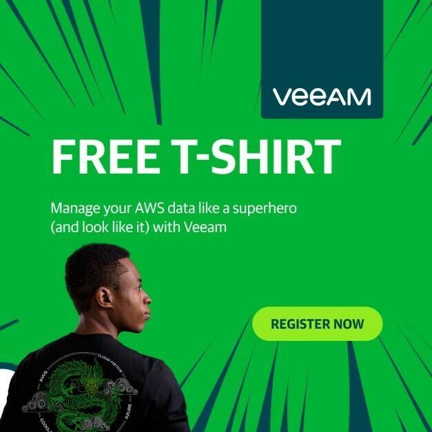 [Professionnels] T-shirt gratuit Toile AWS Summit EMEA à manches longues (veeam.com)