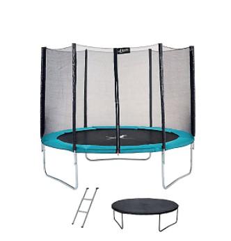 Trampoline (Ø305 cm) + Filet + Couverture de propreté + Échelle