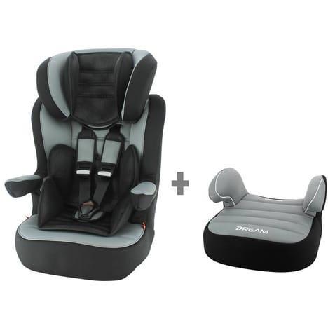 Rehausseur bébé Auchan Baby - Groupe 1/2/3 A30 + Rehausseur bas gris