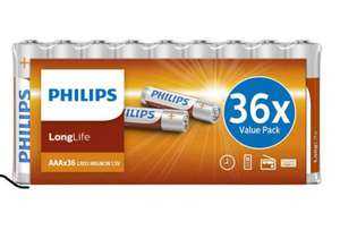 Lot de 36 piles AAA Philips LongLife (via retrait en magasin) - Coignières (78)
