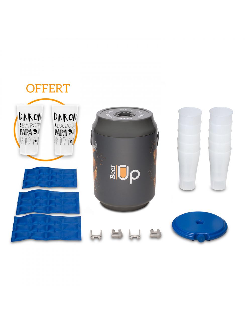 Tireuse à bière Beer up + 10 Verres + Kit de remplissage + 4 accumulateurs de froid + 2 verres édition limitée (beerup.fr)