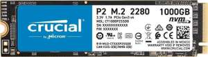 SSD interne M.2 NVMe Crucial P2 (CT1000P2SSD) - 1 To