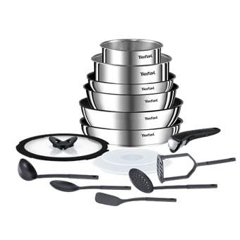 Batterie de cuisine Tefal Ingenio Emotion L925SF14 - 15 pièces (compatible tous feux dont induction et four)
