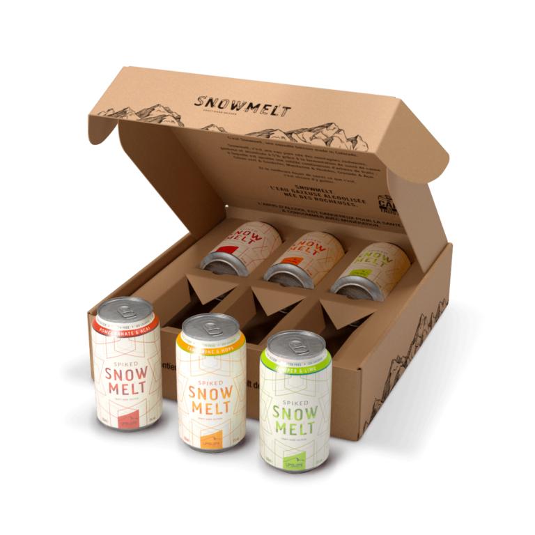 Paquet de 6 Canettes d'eau gazéifiée aromatisée et alcoolisée Snow Melt Back Pack Découverte (Frais de port compris) - Snowmelt.fr
