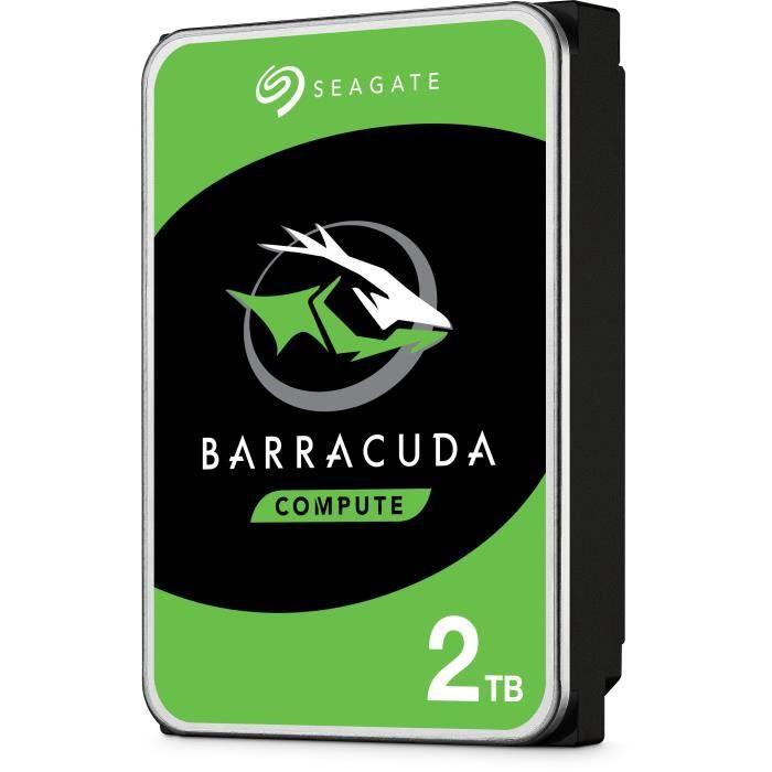 "Disque dur interne 3.5"" Seagate BarraCuda (7200 tours/min) - 2 To, SMR"