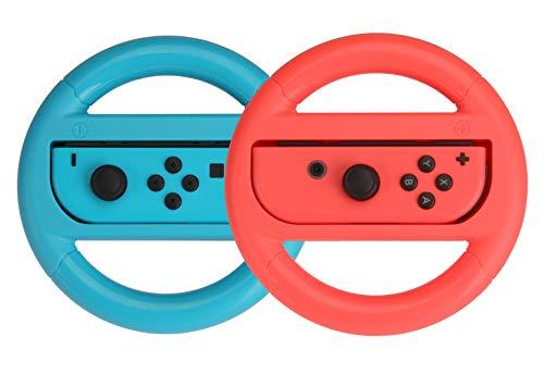 Lot de 2 volants Amazon Basics pour Nintendo Switch - Bleu/Rouge