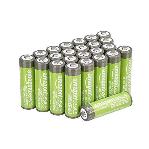 Sélection de piles Amazon Basics en Promotion - Ex: Lot de 24 Piles rechargeables Amazon Basics - AA, 2400 mAh (Pré-chargées)