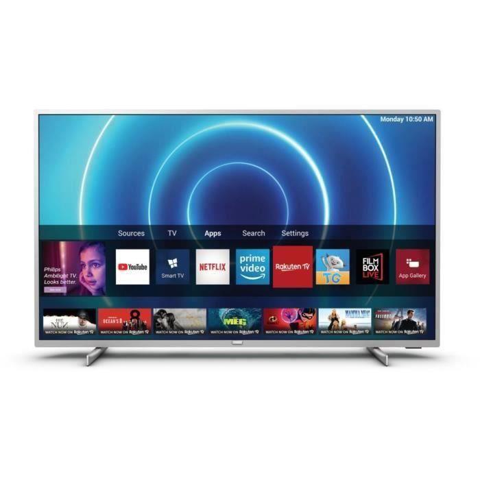 "[CDAV] TV 58"" Philips 58PUS7555 (2020) - 4K, LED, HDR10+ / HLG, Dolby Vision & Atmos, P5, Smart TV"