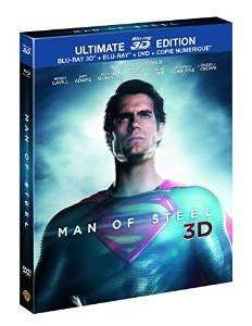 Man of Steel - Edition Ultimate Limitée avec Blu-Ray 3D + DVD + Blu-Ray+ Copie Numérique