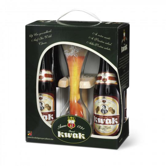 Coffret Bière Kwak - 4x33cl + 1 verre (via 5.14€ sur la carte)