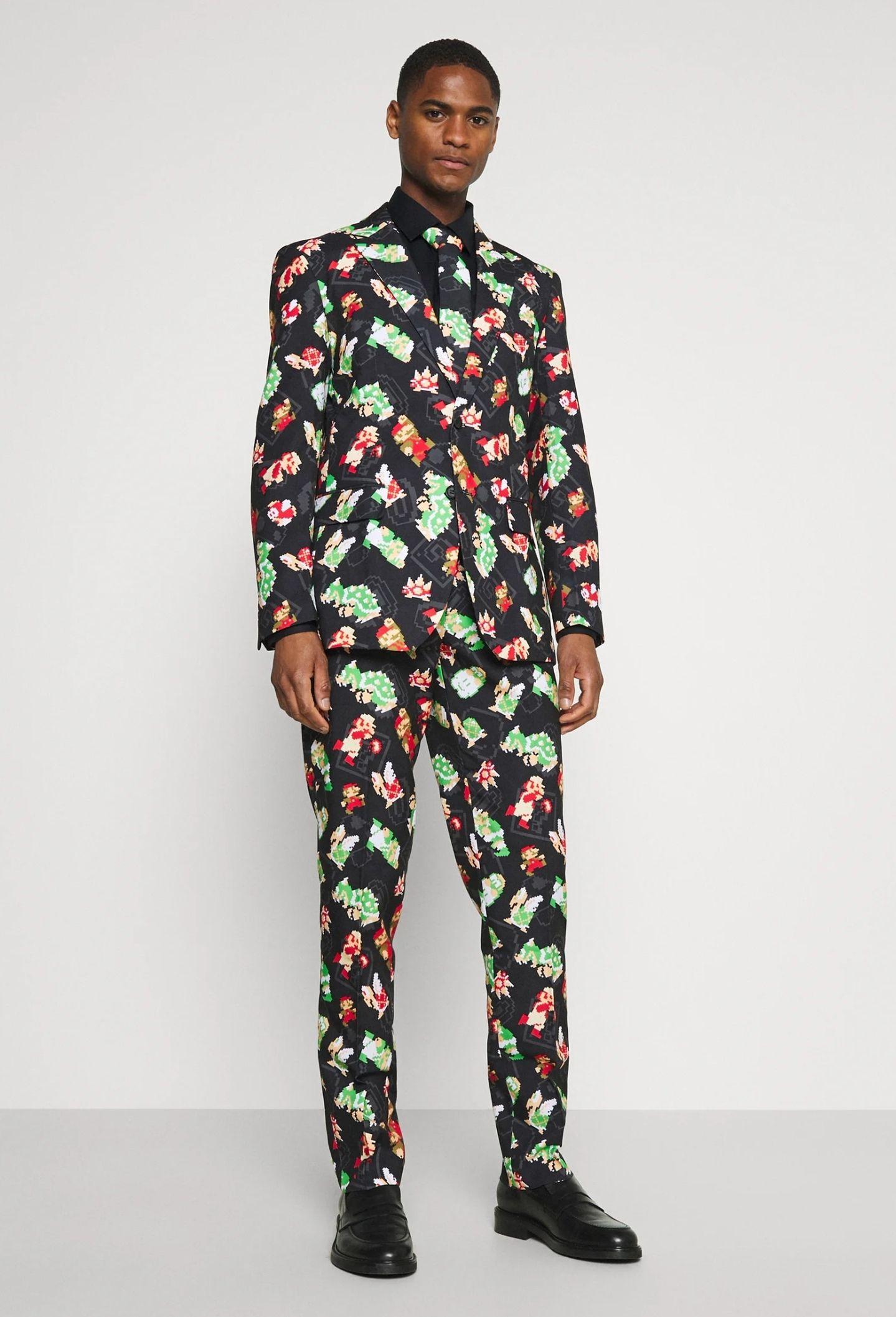 Costume OppoSuits Super Mario Bros avec Cravate - Différentes Tailles
