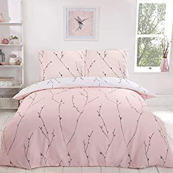 Parure de lit réversible Sleepdown avec Housse de Couette - 155 x 220 cm + 2 taies d'oreiller (80 x 80 cm)