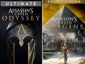 Assassin's Creed Origins Gold à 9.75€ & Assassin's Creed Odyssey Ultimate à 12.15€ sur Xbox One (Dématérialisés - Store Brésil)