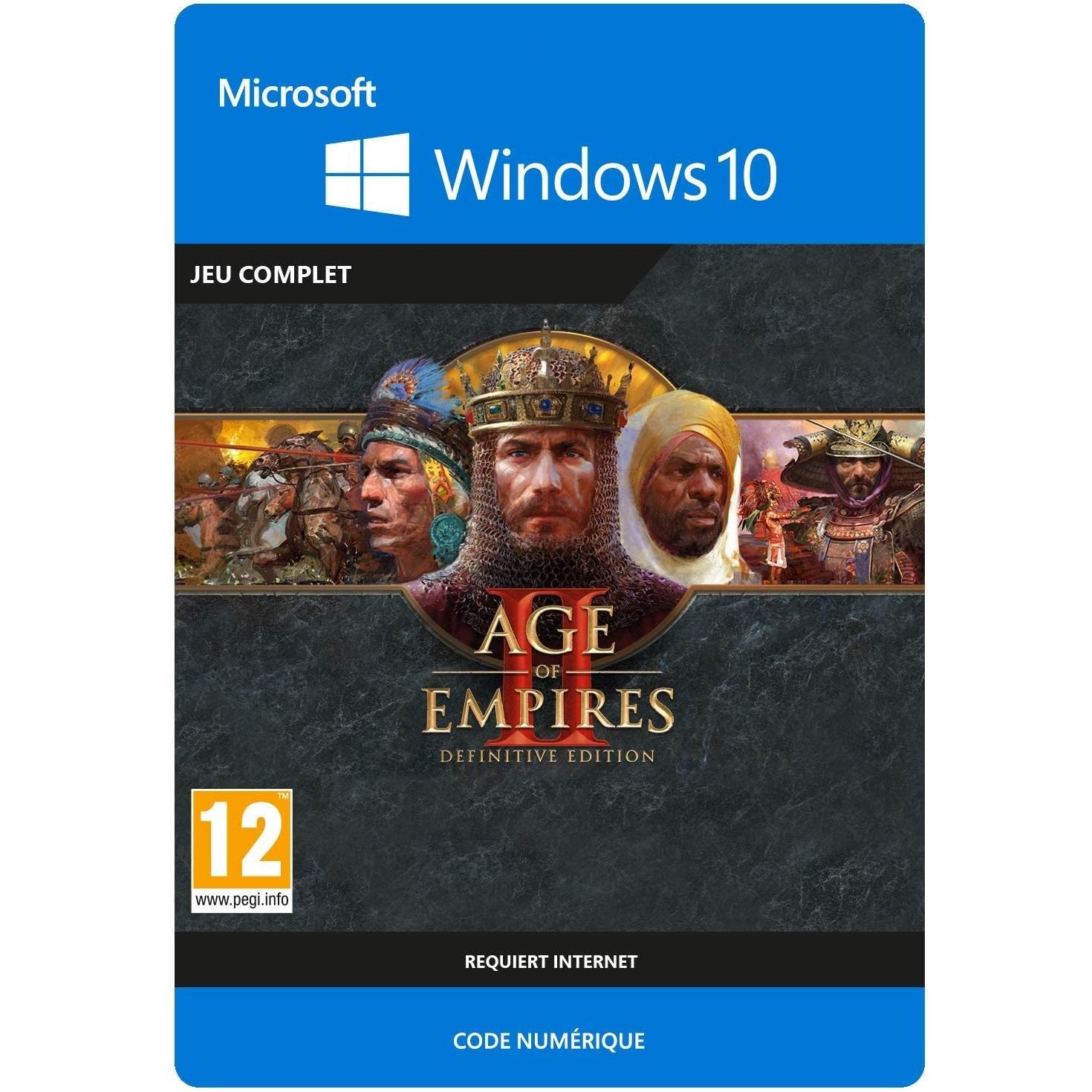Age of Empires II: Definitive Edition sur PC Windows 10 (Dématérialisé)