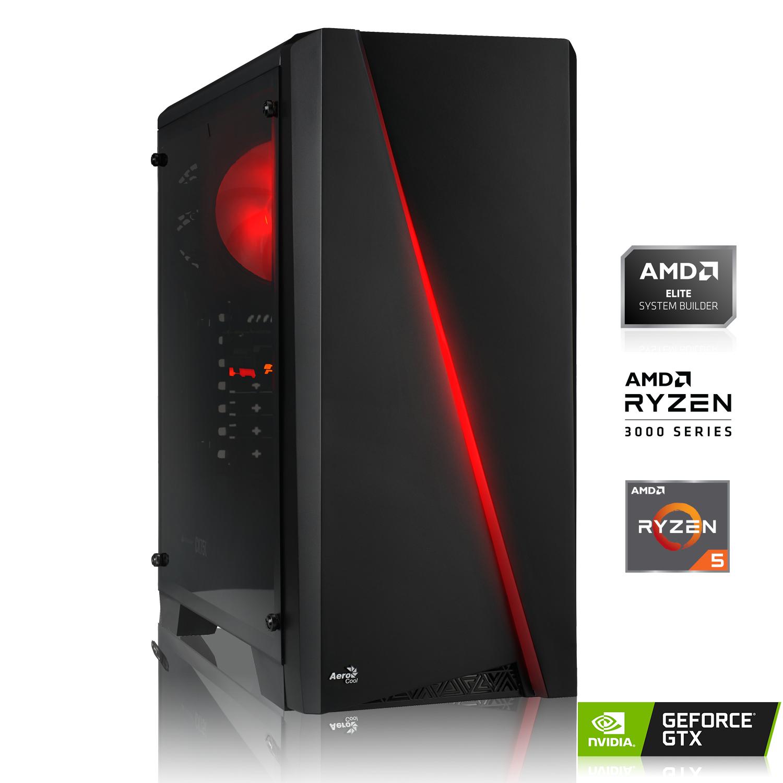 PC Gamer - Ryzen 5 3500X, 16Go (2x8Go) de RAM DDR4-3000, 256 Go SSD PCIe, GeForce GTX 1650 4 Go, A320, 600W 80+, sans Windows