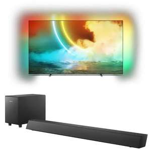 """TV 55"""" Philips 55OLED705 - OLED, 4K UHD, 100 Hz, HDR 10+, Dolby Vision, Android TV, Ambilight + Barre de son Bluetooth Philips TAB5305"""
