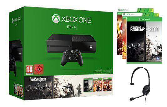 Pack Console Microsoft Xbox One 1 To + Rainbow Six Siege + Rainbow Six Vegas 1 & 2