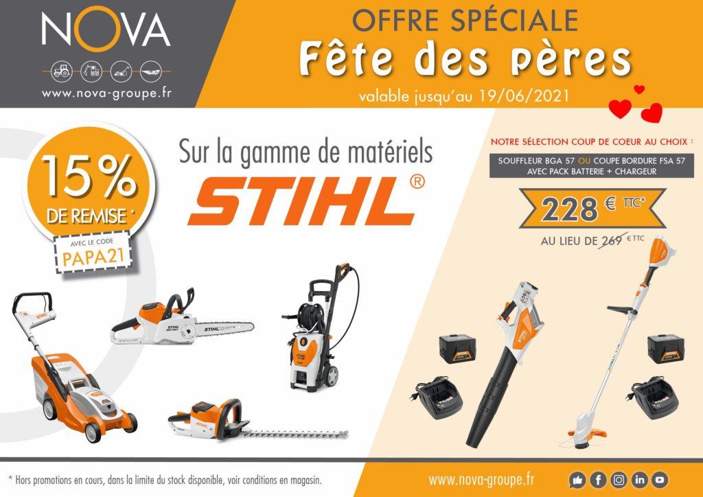 15% de remise sur la gamme de matériels d'entretien des espaces verts Stihl - Nova Paca