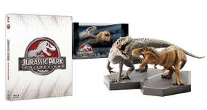 Coffret Collector Blu-ray Trilogie Jurassic Park + Jurassic World Blu Ray + Statuettes Dinosaures