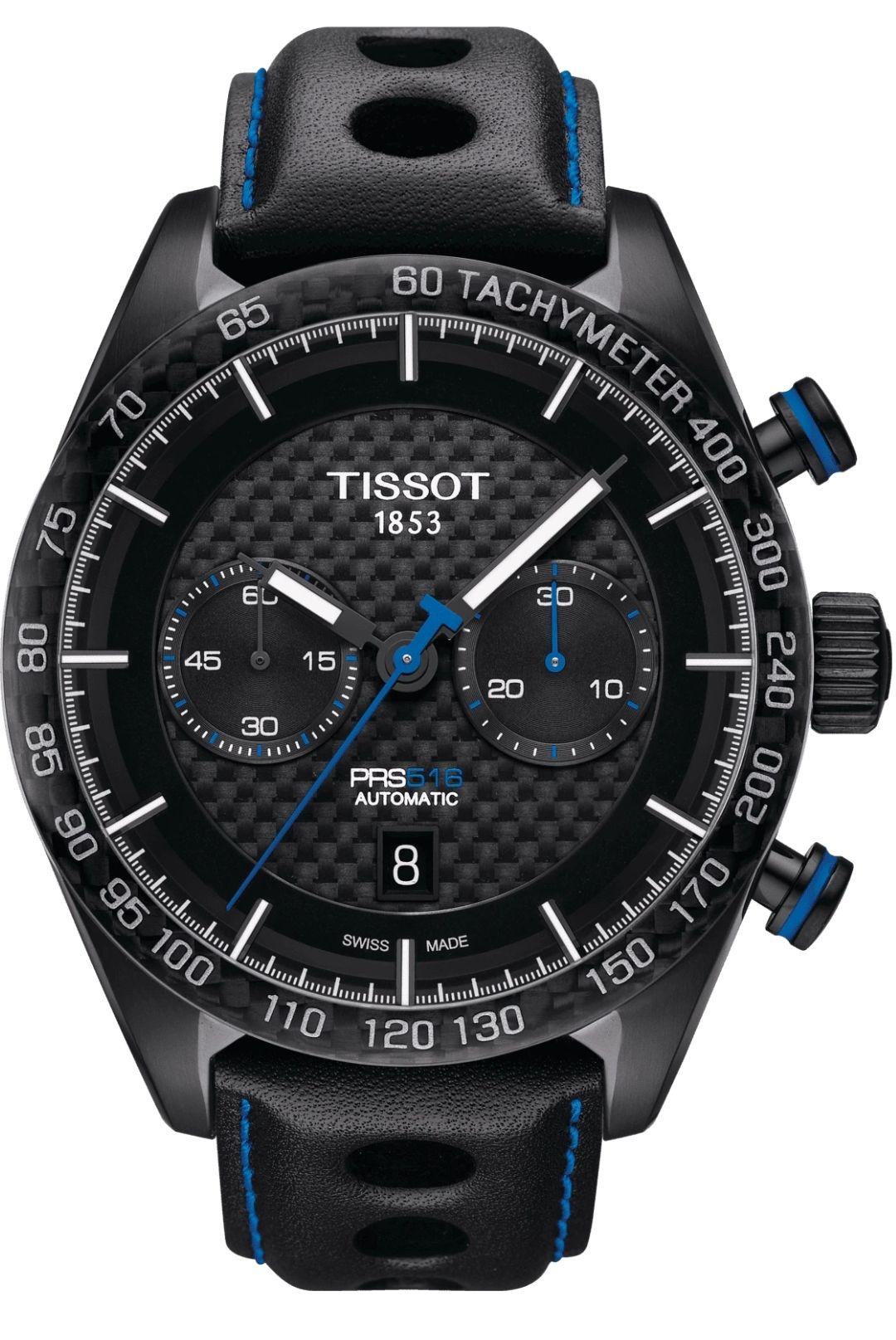 Montre Automatique Chronographe Tissot PRS 516 T100.430.37.201.00 - Verre Saphir, Valjoux A05.H31, 45 mm (Frais de port et de douane inclus)